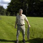 Photo of Dougy Morison holding a grilse